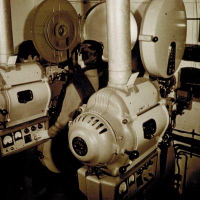 La cabine de projection dans les années 60'